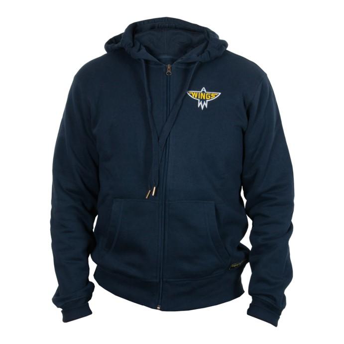 Wings Zip Hood Navy Jr