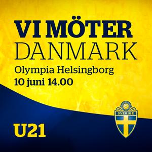 U21 SVERIGE - DANMARK  Träningslandskamp