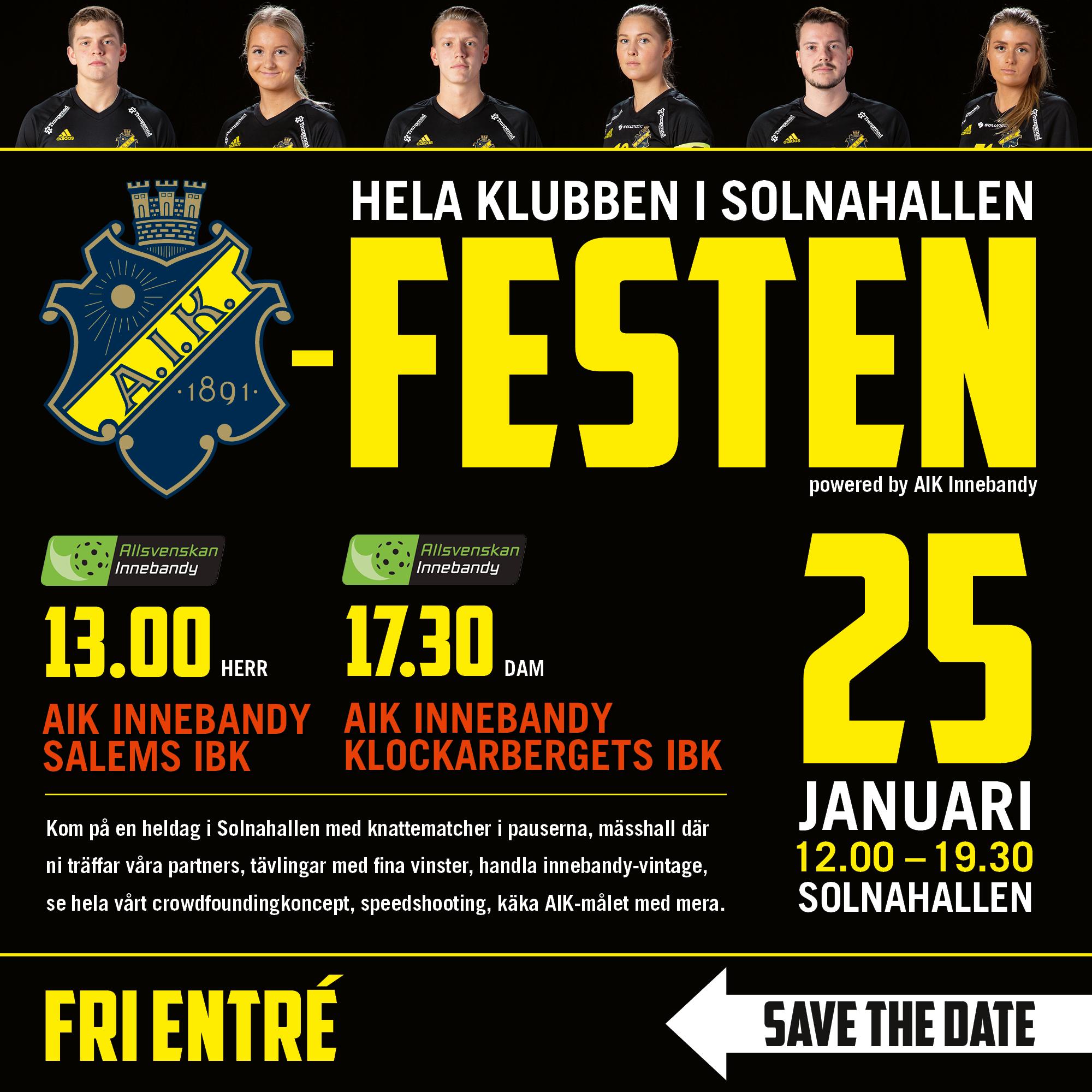 AIK Festen: AIK IBF Dam - Klockarbergets BK