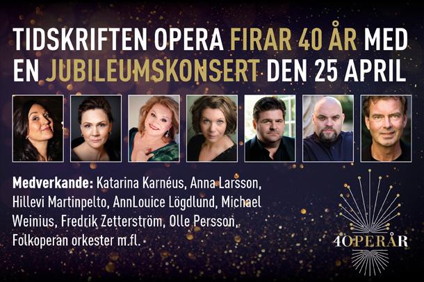 Tidskriften Operas Jubileumskonsert